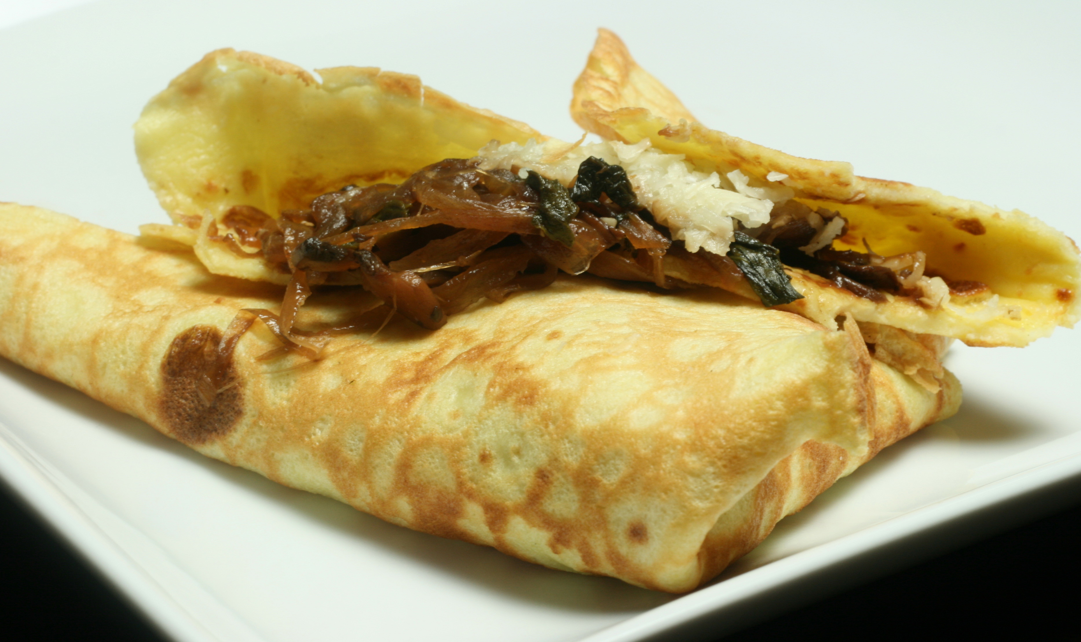 ... Carmelized Onions, Mushrooms and Spinach CREPES | Adventures in Shaw