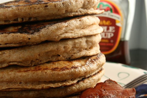 whole-wheat-pancakes-and-bacon